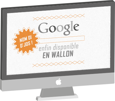 Google enfin disponible en wallon !
